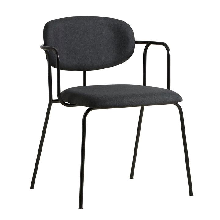 Chaise Frame de Woud en noir / gris foncé