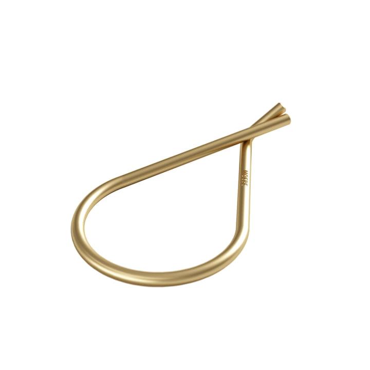 Porte-clés Ø 38 mm de Moebe en laiton