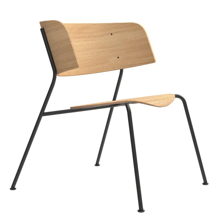 Wagner Chaise longue de Objekte unserer Tage en chêne laqué mat / noir