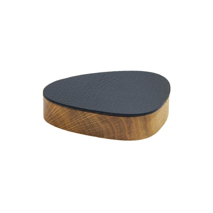 Wood Box avec couvercle curve S 1 2. 5 x 14 cm de LindDNA en chêne naturel / noir