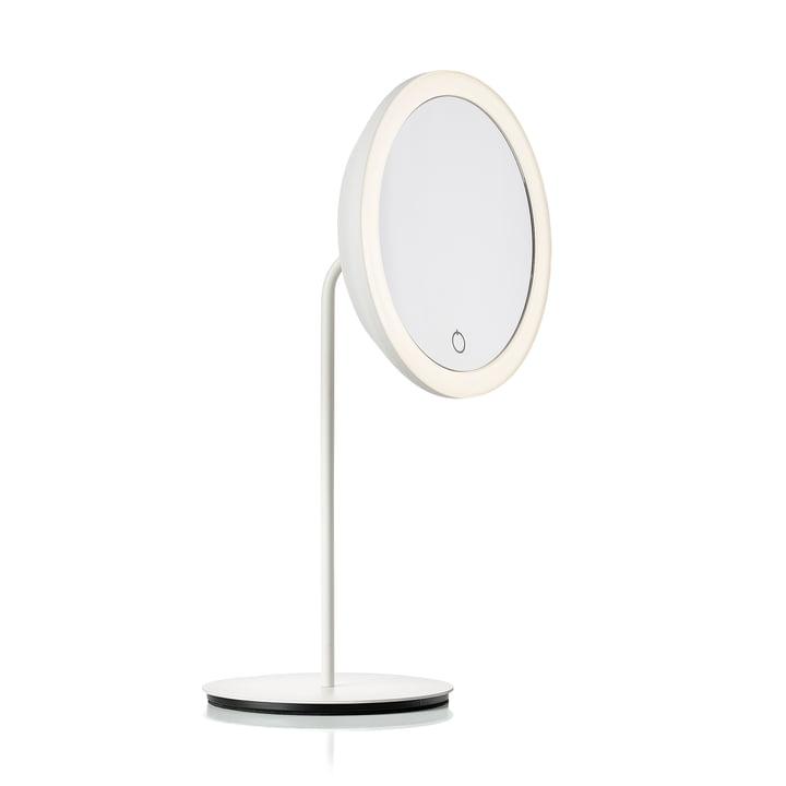Miroir cosmétique avec grossissement 5x et éclairage LED Ø 18 cm de Zone Denmark en blanc