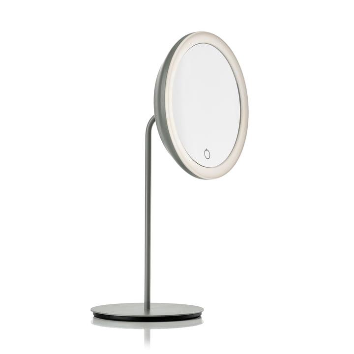 Miroir cosmétique avec grossissement 5x et éclairage LED Ø 18 cm de Zone Denmark en gris