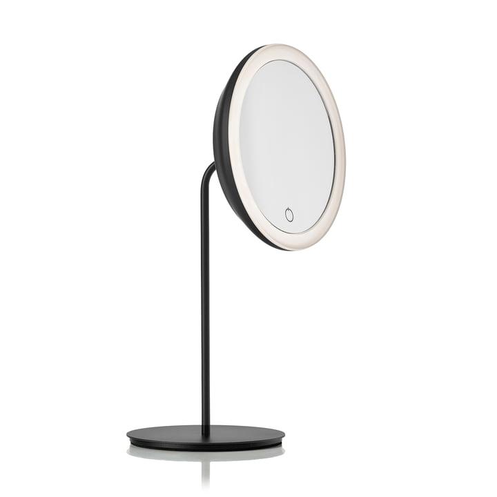 Miroir cosmétique avec grossissement 5x et éclairage LED Ø 18 cm de Zone Denmark en noir