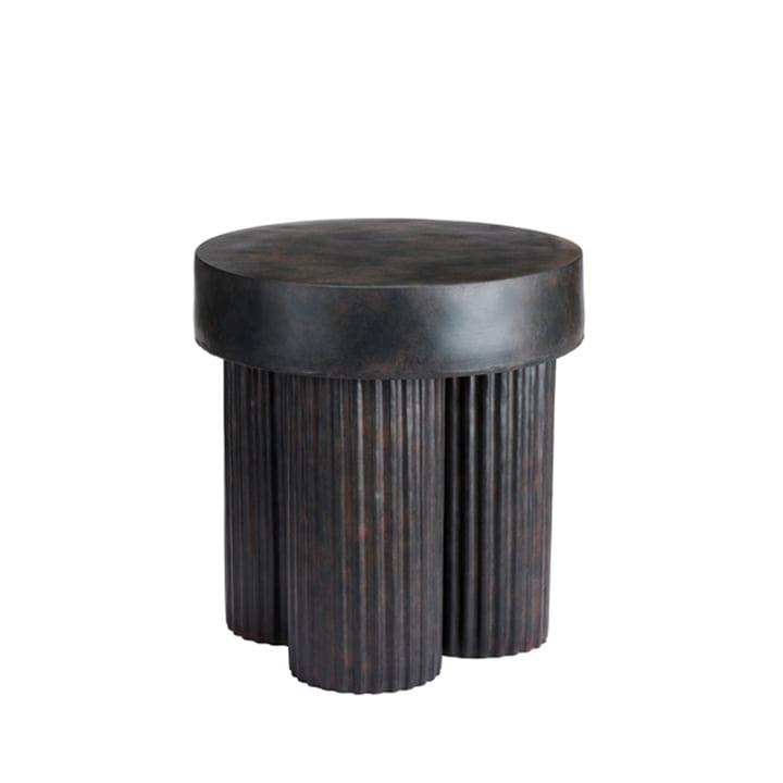 La table d'appoint Gear de Norr11 , H 48 x Ø 45 cm, noir