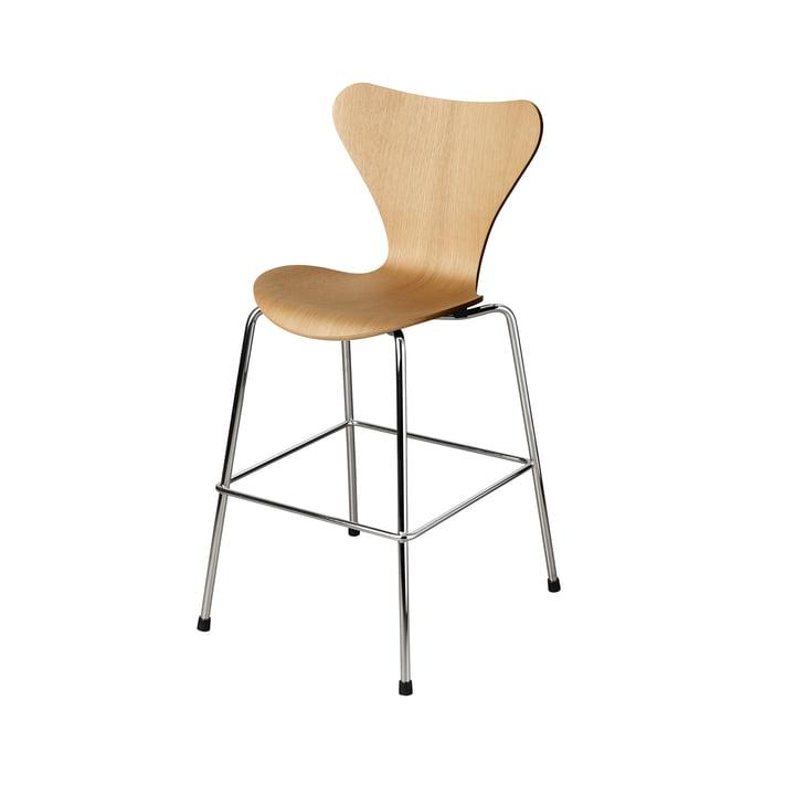 La chaise Series 7 Junior de Fritz Hansen , chrome / chêne