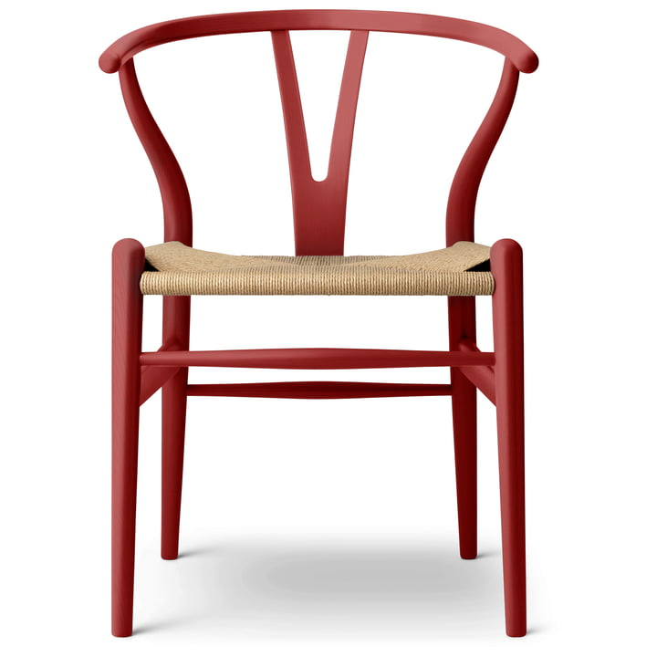 Le CH24 Wishbone Chair de Carl Hansen , falu / Naturgeflecht (édition limitée)