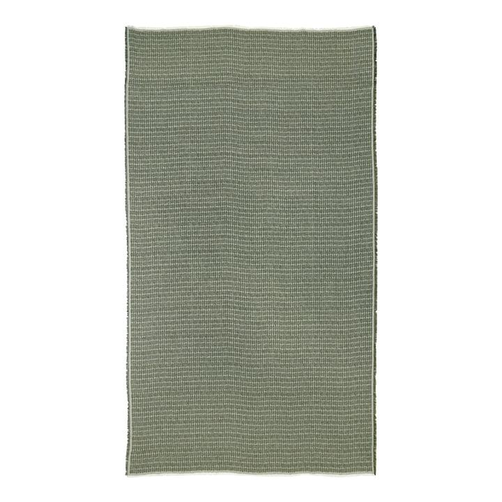 La nappe Alku de Marimekko , 140 x 180 cm, lin / vert (automne 2021)