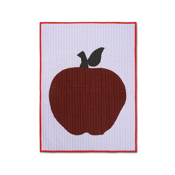 Couverture pour enfants Apple 80 x 110 cm de ferm Living en violet