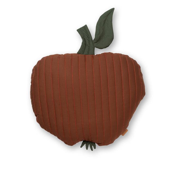Coussin pour enfants Apple 45 x 49 cm de ferm Living en rouge cannelle