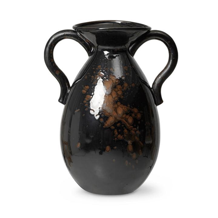 Verso Vase de sol H 49 cm de ferm Living en noir / brun