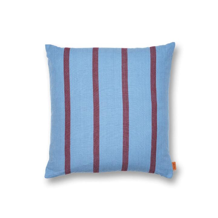 Grand Coussin 50 x 50 cm de ferm Living en bleu / bordeaux