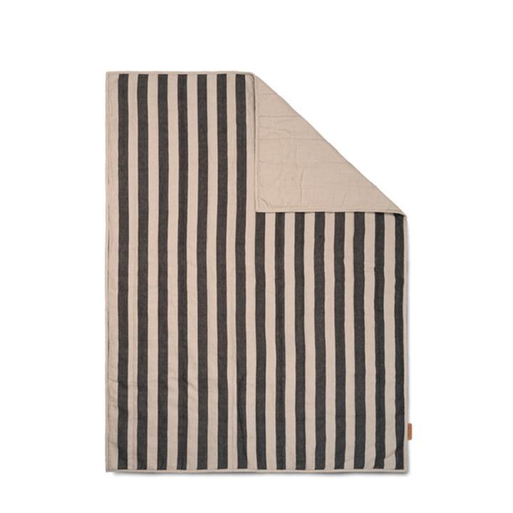 Grand Couverture 120 x 170 cm de ferm Living en sable / noir