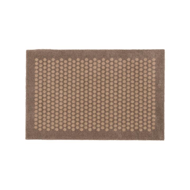 Paillasson à pois 45 x 75 cm de tica copenhagen en sable / beige