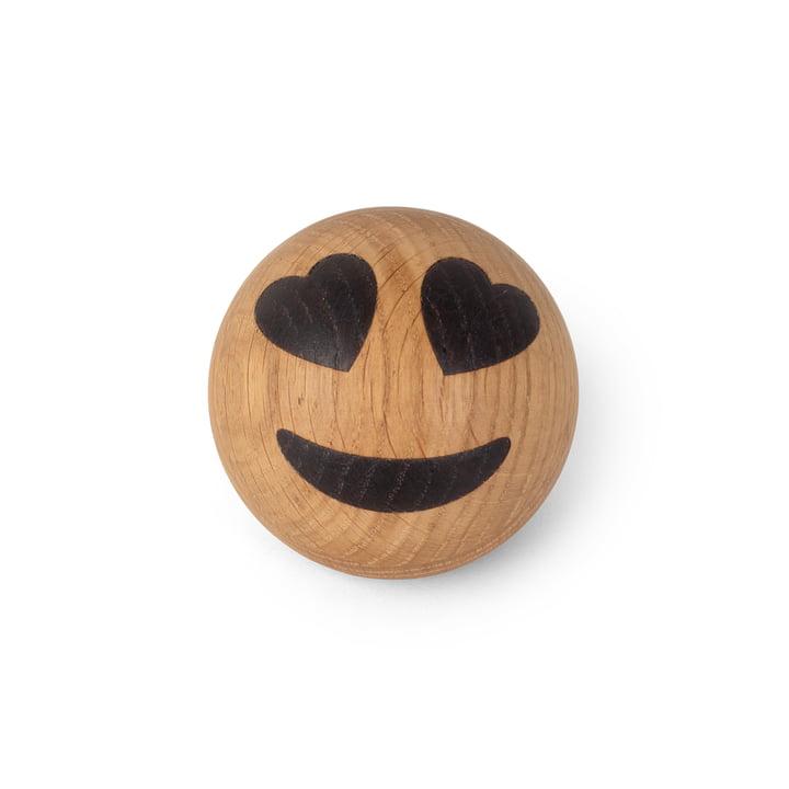 Spring Emotions Emoticône en bois de Spring Copenhagen dans la variante yeux de cœur