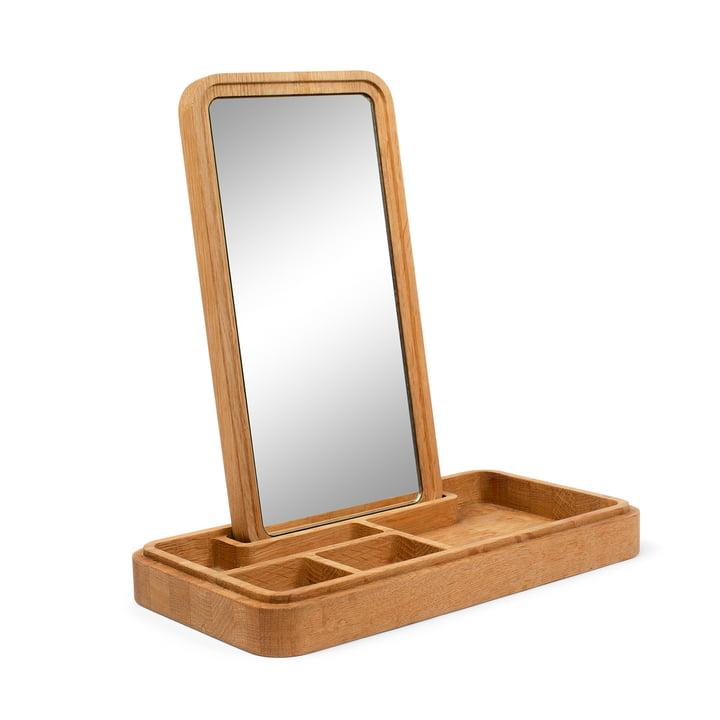 Mirror Box Rangement pour bijoux avec miroir de Spring Copenhagen en chêne nature
