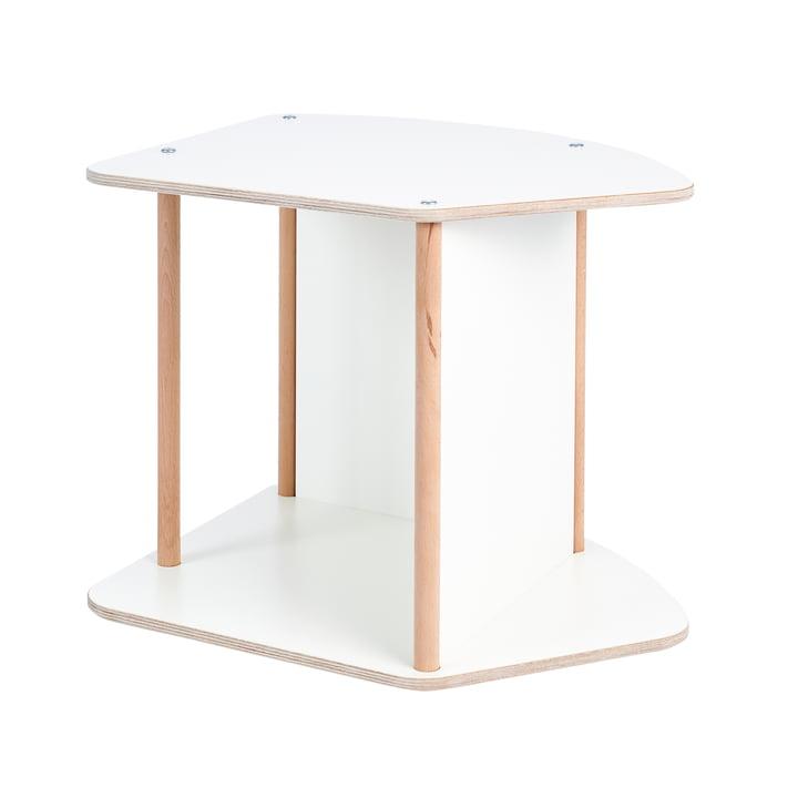 multi Table et rocker pour enfants de Tojo en blanc/hêtre