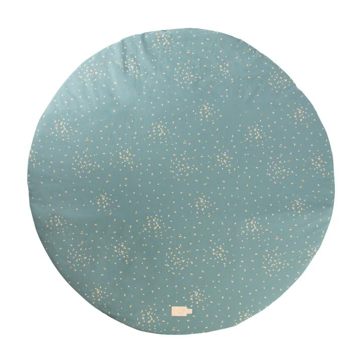 Full Moon Tapis de jeu Ø 105 cm de Nobodinoz dans gold confetti / magic green