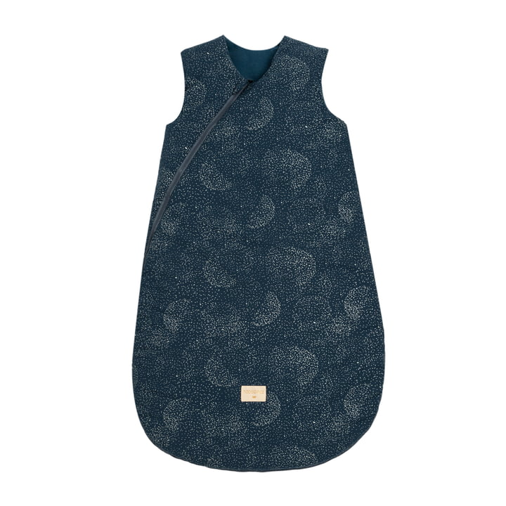 Cocoon Baby -Sleeping bag 6-18 months by Nobodinoz in gold bubble / night blue