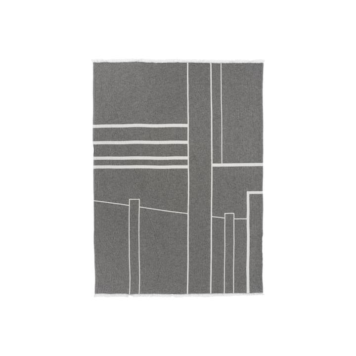 Architecture Couverture 130 x 180 cm de Kristina Dam Studio en blanc cassé / noir