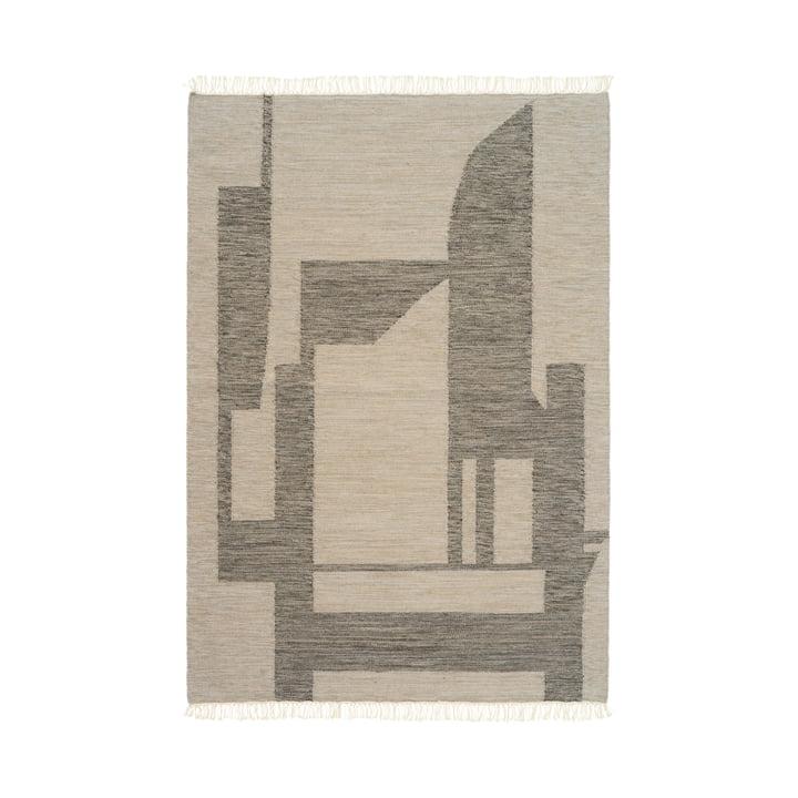 Contemporary Tapis Kelim 140 x 200 cm de Kristina Dam Studio en blanc cassé / gris