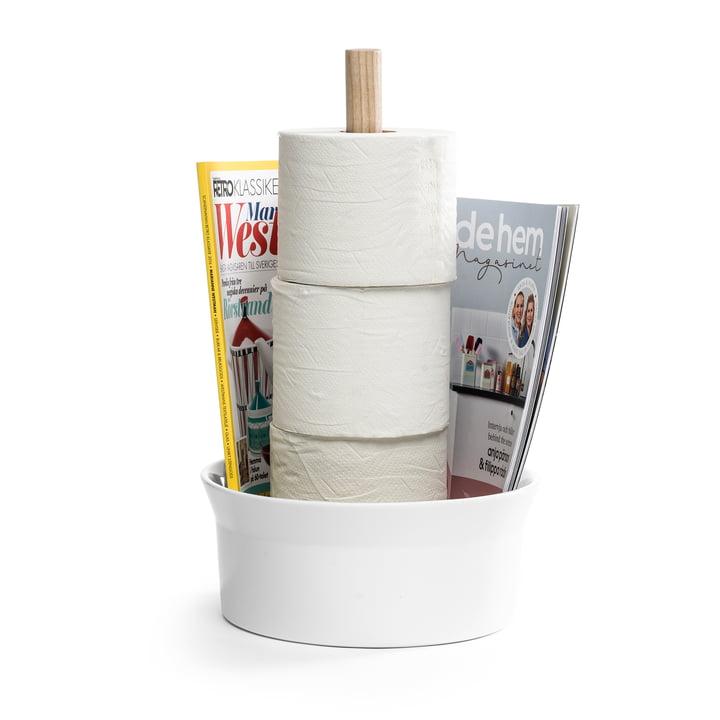 Le porte-papier de toilette Angle de Born in Sweden , cendre / blanc brillant