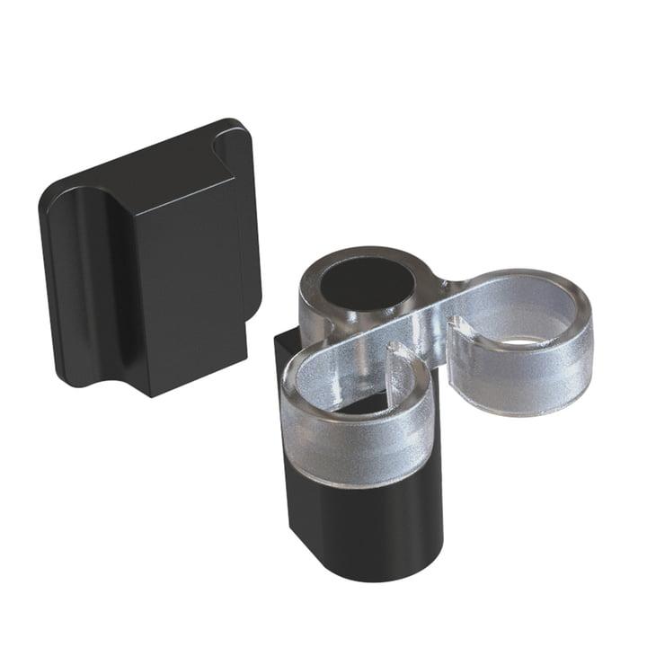 Le porte-brosse pour évier de Happy Sinks de Magisso , pure black