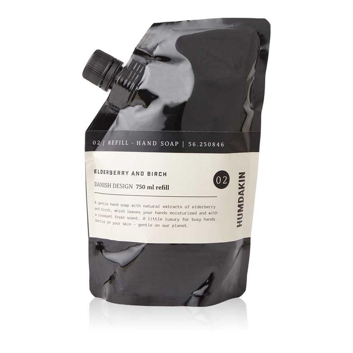 Pack de recharges de savon pour les mains Humdakin, 750 ml, sureau et bouleau
