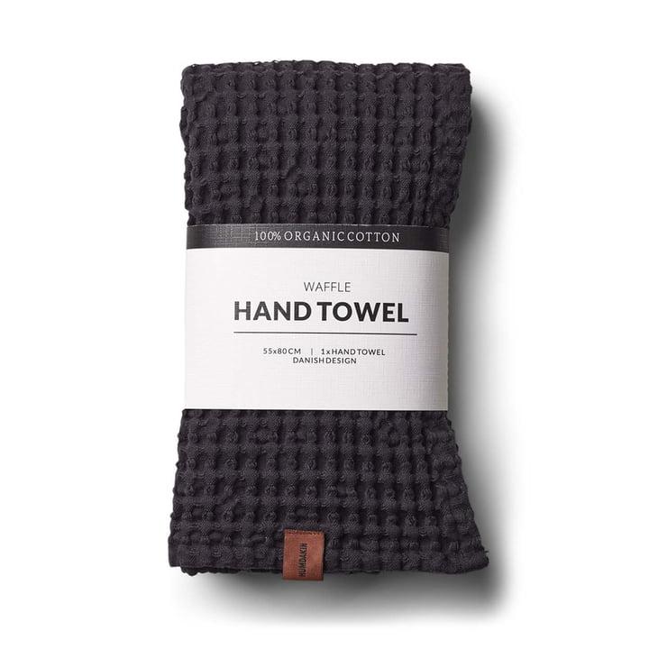 La serviette à structure gaufrée de Humdakin, 55 x 80 cm, coal