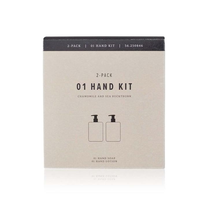 Le set de soins pour les mains de Humdakin, 2x 300 ml, camomille et argousier