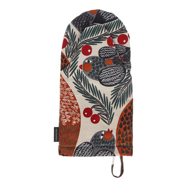 Ketunmarja Gant de four de Marimekko dans les couleurs beige / rouge / vert