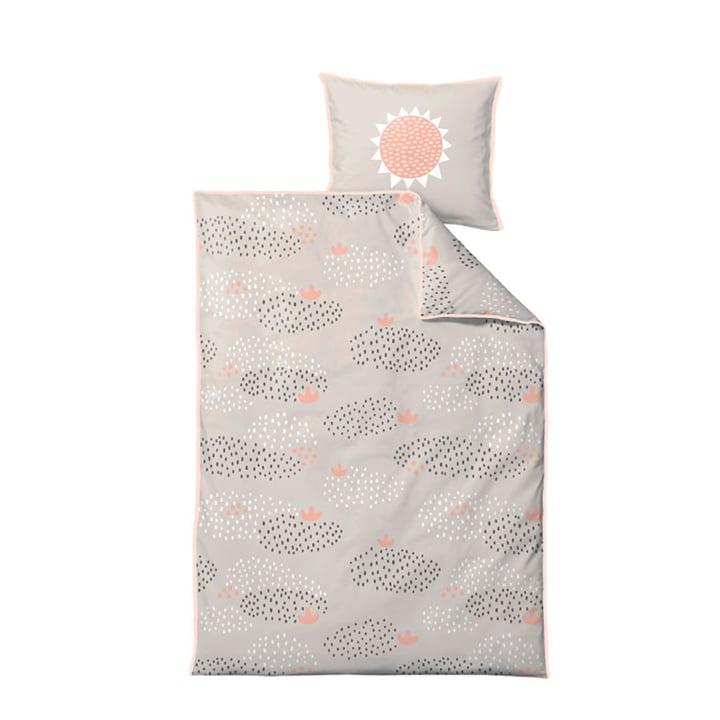 Raindrops Linge de lit pour enfants 100 x 140 cm de Södahl en pastel