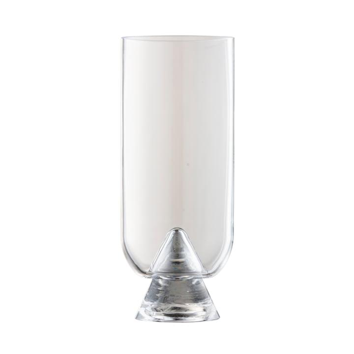 Le vase Glacies de AYTM , Ø 10,6 x H 23,5 cm, transparent