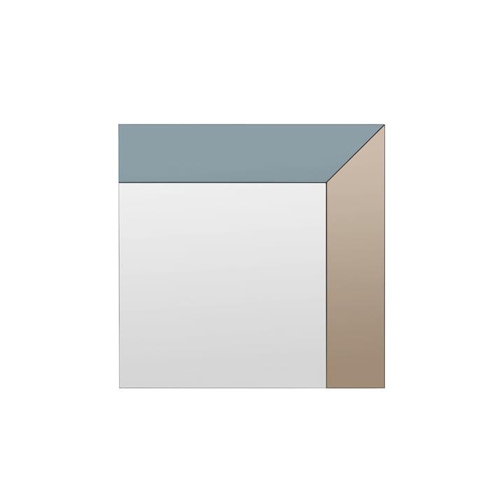 Le miroir Trio de Broste Copenhagen , 70 x 70 cm, fumée / thé