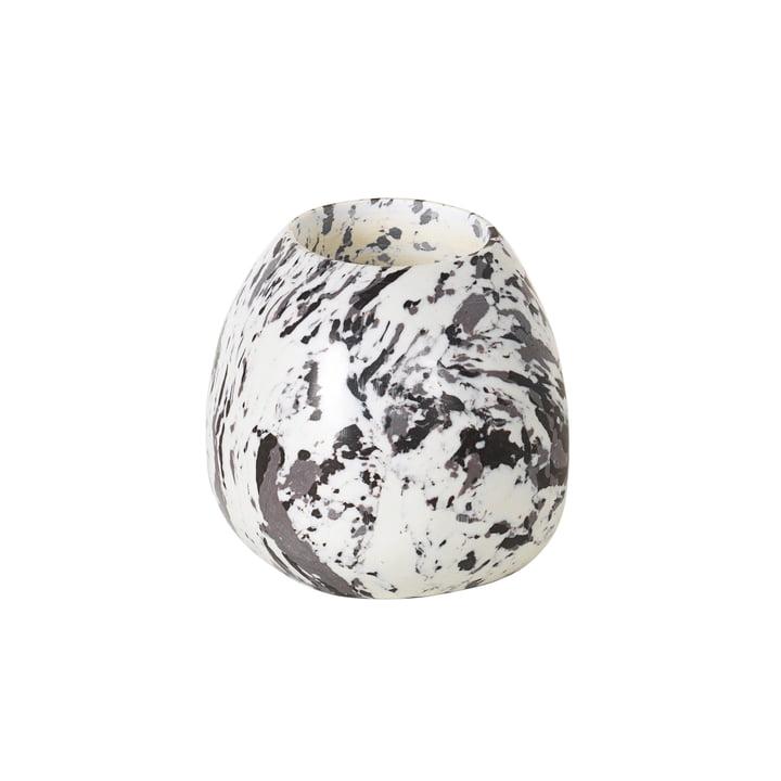 Steen Porte-bougie à réchaud de Broste Copenhagen en gris foncé / blanc