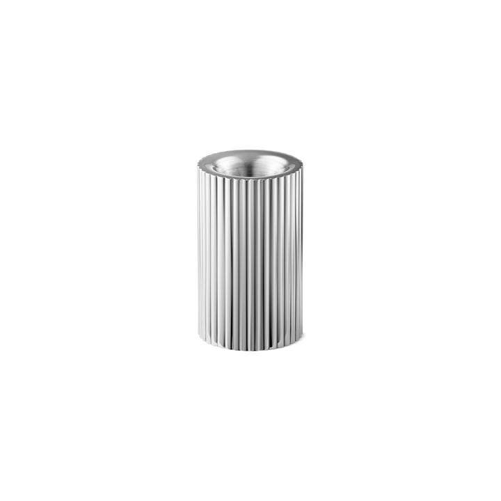 Bernadotte Porte-bougie et bougie chauffe-plat petit H 8 cm de Georg Jensen acier inoxydable
