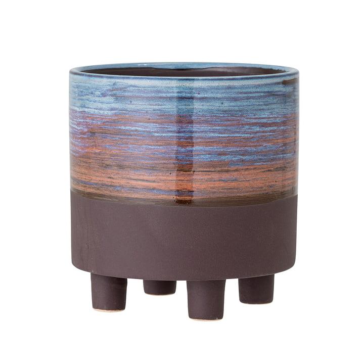 Le pot de fleurs Maes de Bloomingville , Ø 15 cm, bleu / brun