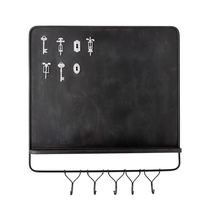 Le tableau magnétique Denno / tableau à clés avec aimants de Bloomingville , 8 pièces, brun