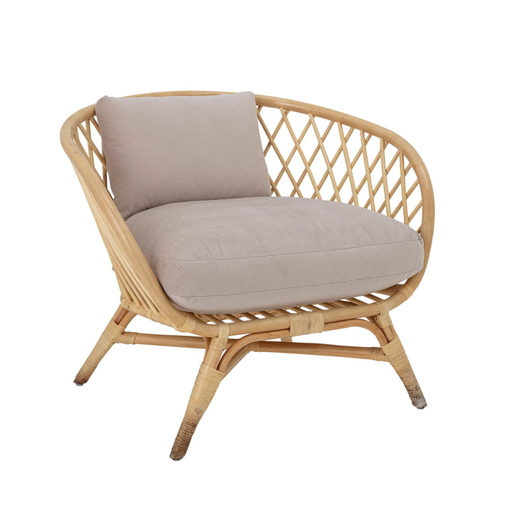 La chaise longue Natali de Bloomingville , rotin, nature