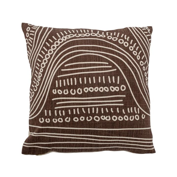 Le coussin Felice de Bloomingville , 50 x 50 cm, brun