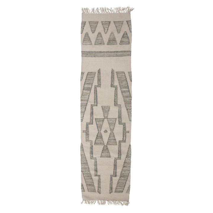 Le tapis de sol Delara de Bloomingville , 240 x 60 cm, vert
