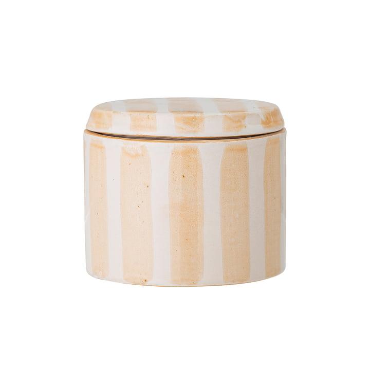 Cathe Boîte de rangement avec couvercle H 7,5 cm, jaune de Bloomingville