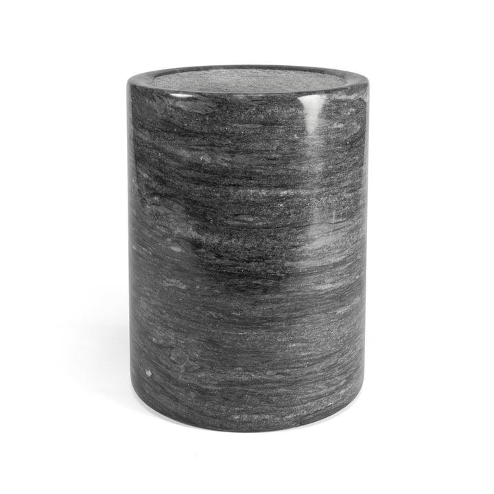 Boîte à ustensiles en marbre, gris foncé / H 16 cm par yunic