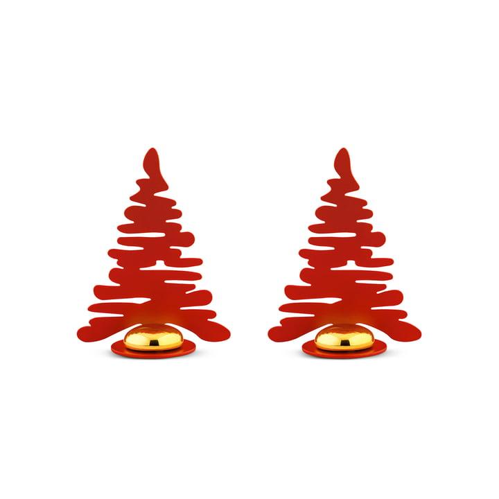 Bark for Christmas Porte-cartes de table (lot de 2) de Alessi en rouge