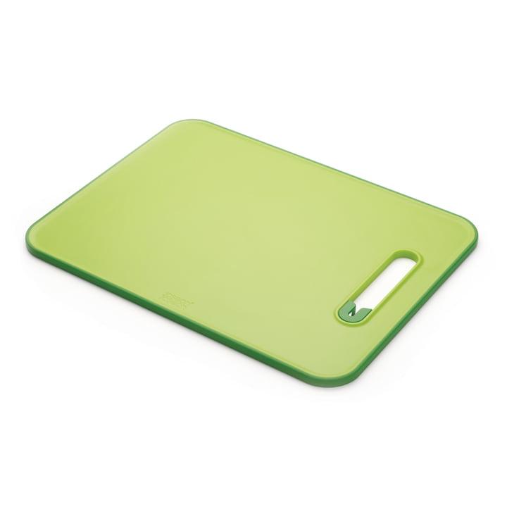 Slice & Sharpen Planche à découper avec aiguiseur de couteaux de Joseph Joseph en vert