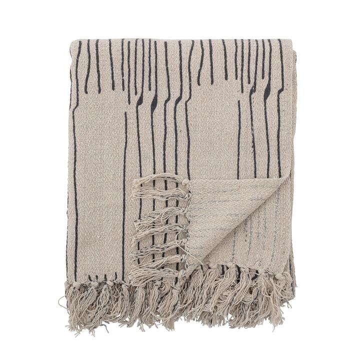 Celly Couvre-lit, 130 x 160 cm de Bloomingville en blanc naturel / noir