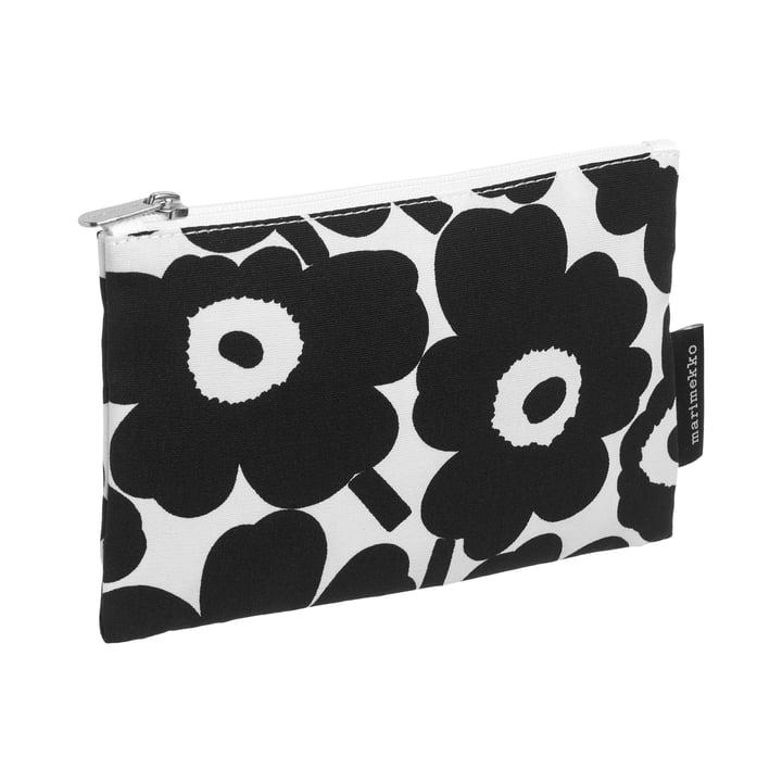 Marimekko - Kaika Mini Unikko Sac à cosmétiques, blanc / noir