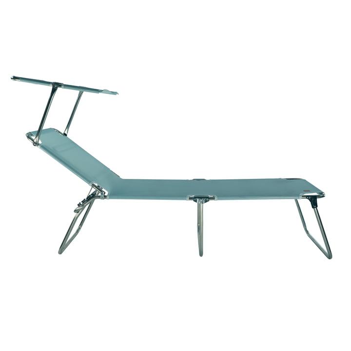 Fiam - Chaise longue à trois pieds Amigo 40+ Sun avec parasol, aqua
