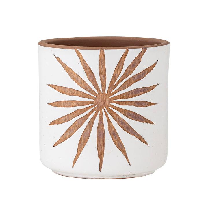 Idris Pot de fleurs de Bloomingville en blanc / brun