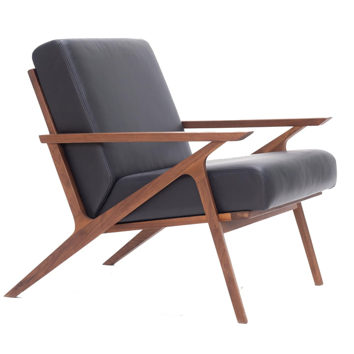 Jesper Lounge Chair par Nuuck en noyer
