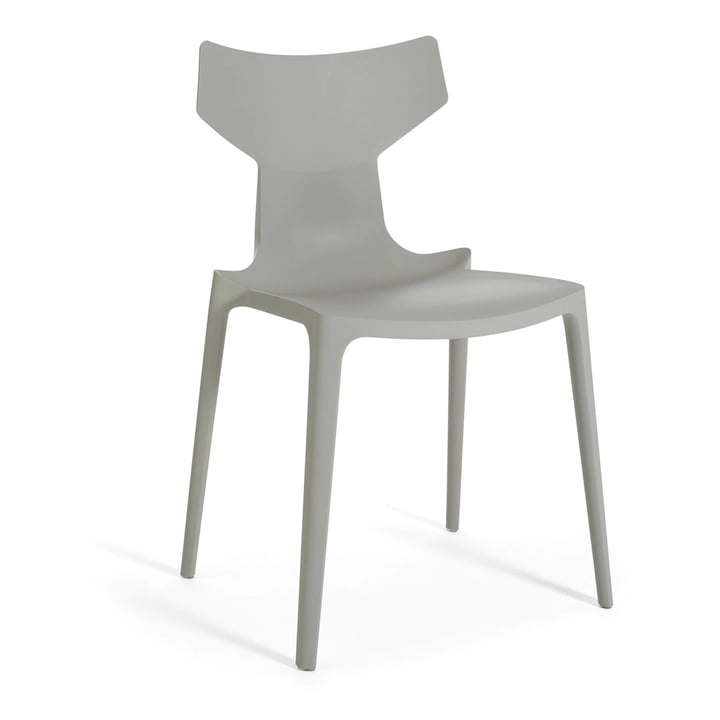 Chaise Re-Chair de Kartell en gris